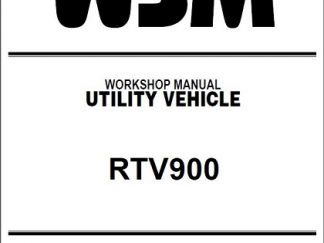 kubota rtv 900 shop manual