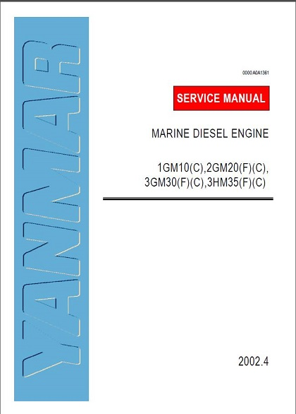 Yanmar Marine Diesel Engine 1gm10 Service Repair Workshop
