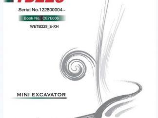 Takeuchi TB228 Mini Excavator Service Repair Workshop Manual