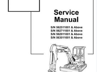Bobcat 430 Compact Excavator Service Repair Workshop Manual