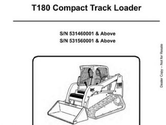 Bobcat T180 Compact Track Loader Service Repair Workshop Manual