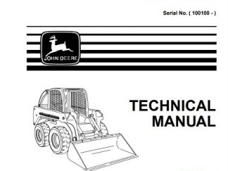 John Deere 240 250 Skid Steer Technical Manual
