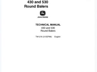 John Deere 430, 530 Round Balers Technical Service Manual