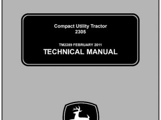 John Deere 2305 Compact Utility Tractor Service Manual