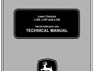 John Deere L105, L107, L120 Lawn Tractors Service Technical Manual