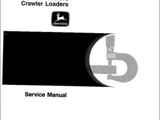 John Deere JD450 Crawler Tractor Loader Service Manual