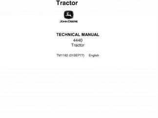 John Deere 4440 Tractor Repair Technical Manual